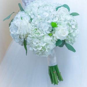 White Wedding Bridal bouquet for brides and bridesmaids